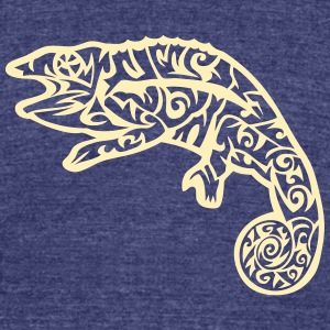 tribal chameleon 3 T-Shirts - Unisex Tri-Blend T-Shirt by American Apparel