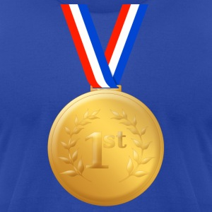1st Place Gold Medal - Men's T-Shirt by American Apparel