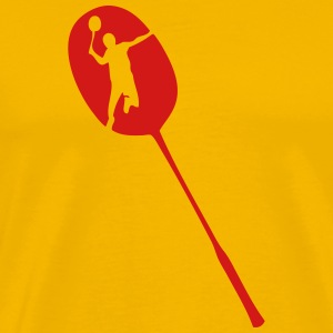 badminton racquet racket player T-Shirts - Men's Premium T-Shirt