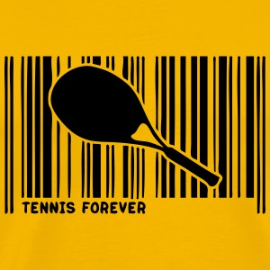 barcode racket tennis 902 T-Shirts - Men's Premium T-Shirt