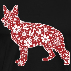 Christmas Snowflakes German Shepherd - Men's Premium T-Shirt