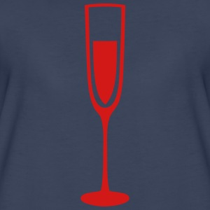 glass champagne flute glass crystal T-Shirts - Women's Premium T-Shirt