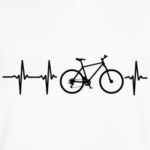 I LOVE MY BICYCLE! T-Shirts - Men's V-Neck T-Shirt by Canvas