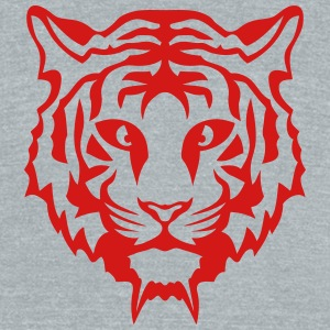 tiger nasty look 0 T-Shirts - Unisex Tri-Blend T-Shirt by American Apparel