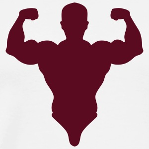 figure bodybuilder biceps pose 0 T-Shirts - Men's Premium T-Shirt