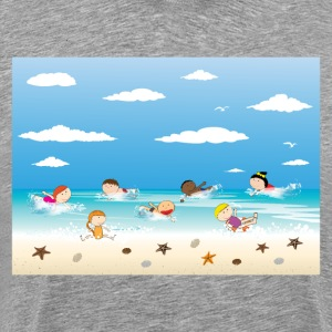 Children and beach summer background T-Shirts - Men's Premium T-Shirt