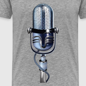 Olden microphone design T-Shirts - Men's Premium T-Shirt