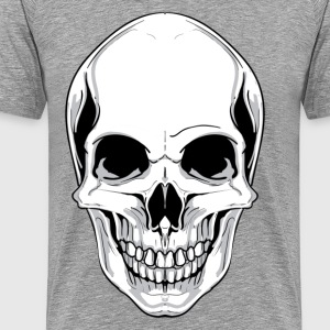 Skull front view design T-Shirts - Men's Premium T-Shirt