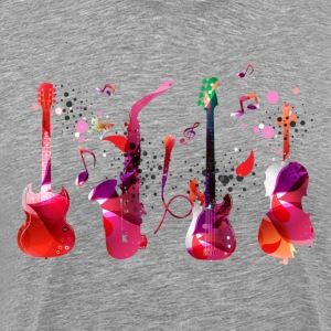 Stylish colorful music guitar background T-Shirts - Men's Premium T-Shirt