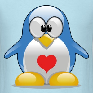 Penguin with heart - Men's T-Shirt