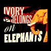 Ivory Belongs on Elephants design by Calico Dragon - Women's V-Neck T-Shirt