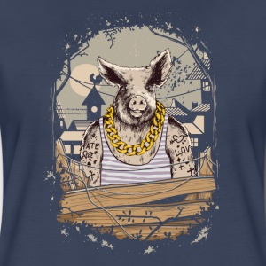 Pig Farm Animal Gangster Women's T-Shirts - Women's Premium T-Shirt