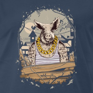 Pig Farm Animal Gangster T-Shirts - Men's Premium T-Shirt