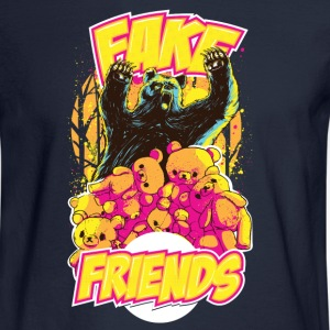 Teddy Bear Fake Friends Long Sleeve Shirts - Men's Long Sleeve T-Shirt