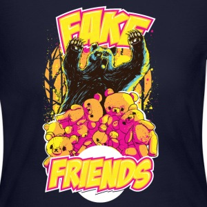 Teddy Bear Fake Friends Long Sleeve Shirts - Women's Long Sleeve Jersey T-Shirt