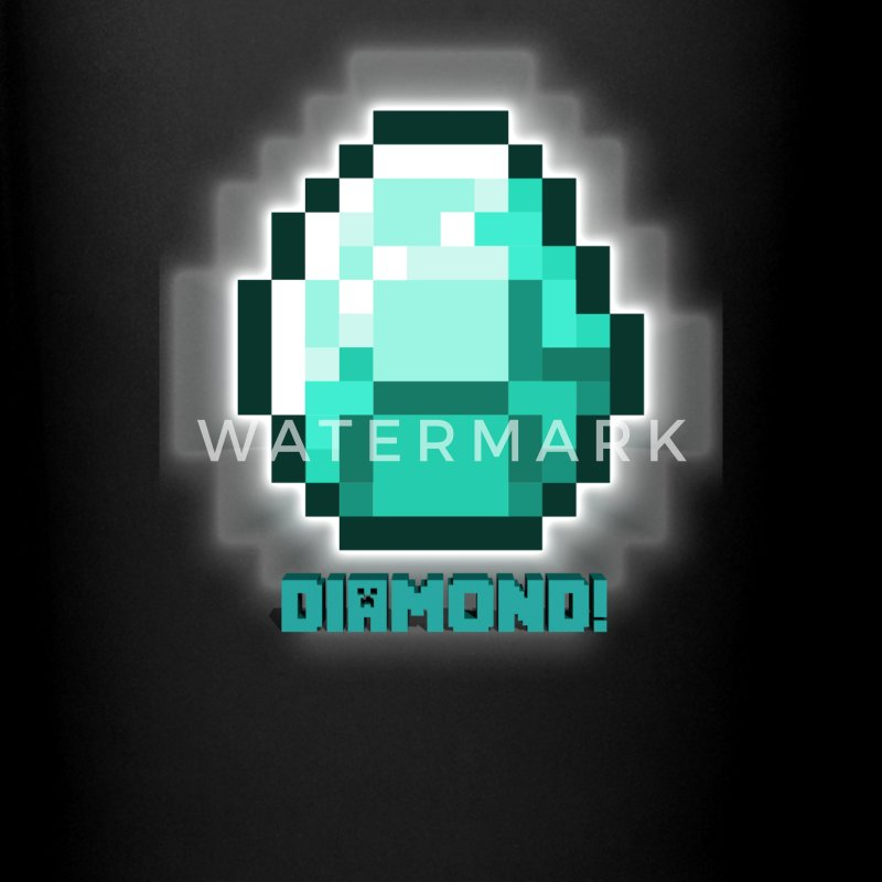 Minecraft Diamond  Mugs & Drinkware - Full Color Mug