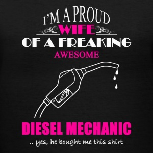 Diesel Mechanic Wife - Women's V-Neck T-Shirt