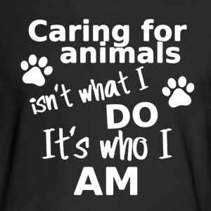 Caring Animals Shirt - Men's Long Sleeve T-Shirt
