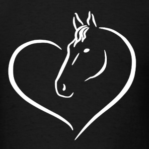 HEART HORSE SHIRT - Men's T-Shirt