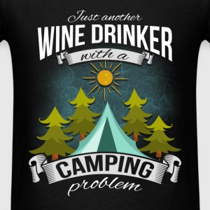 Camping - Wine Drinker - Men's T-Shirt