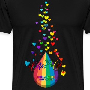 one pulse hearts T-Shirts - Men's Premium T-Shirt