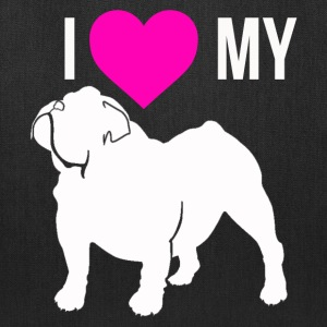 I Love My Bulldog Bags & backpacks - Tote Bag