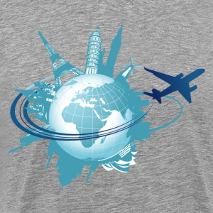 World tourism elements art - Men's Premium T-Shirt