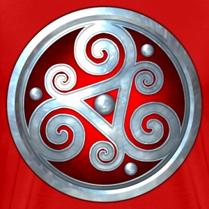 Red Celtic Triskelion - Men's Premium T-Shirt
