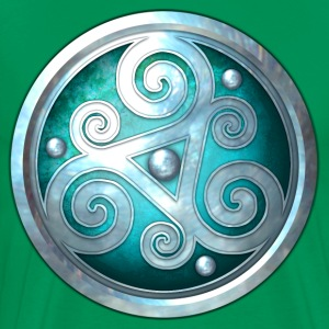 Teal Celtic Triskelion - Men's Premium T-Shirt