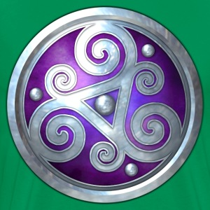 Purple Celtic Triskelion - Men's Premium T-Shirt