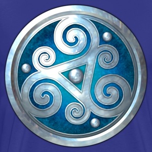 Blue Celtic Triskelion - Men's Premium T-Shirt