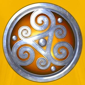 Orange Celtic Triskelion - Men's Premium T-Shirt