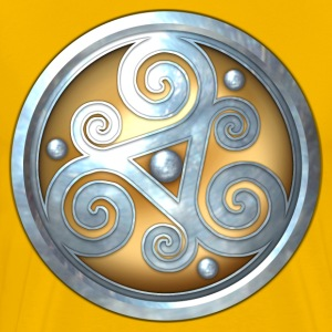 Gold Celtic Triskelion - Men's Premium T-Shirt