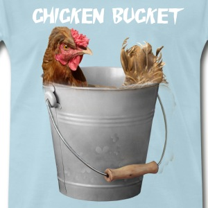 Chicken Bucket Mens Light Blue T-Shirt  - Men's Premium T-Shirt