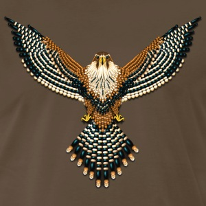 Beaded Aplomado Falcon - Men's Premium T-Shirt