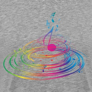 Stylish colorful music background T-Shirts - Men's Premium T-Shirt