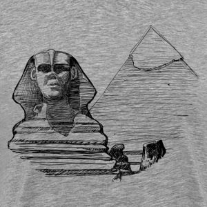 Egypt pyramid line art T-Shirts - Men's Premium T-Shirt