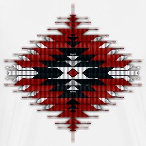 Native Beaded Sunburst 03 - Men's Premium T-Shirt
