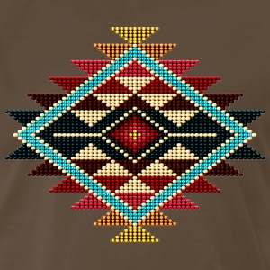 Native Beaded Sunburst 01 - Men's Premium T-Shirt