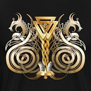 Double Norse Dragons - Men's Premium T-Shirt