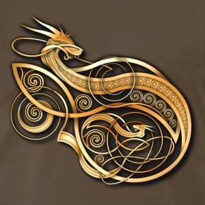 Gold Norse Dragon - Men's Premium T-Shirt
