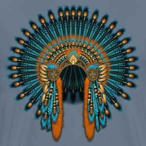 Blue Orange War Bonnet - Men's Premium T-Shirt
