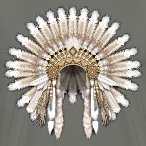White Native War Bonnet - Men's Premium T-Shirt