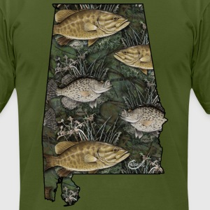 Alabama Bass, Crappie by Hookat T-Shirts - Men's T-Shirt by American Apparel