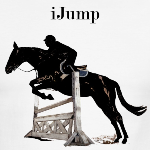 Fun iJump Equestrian Hors T-Shirts - Men's Ringer T-Shirt