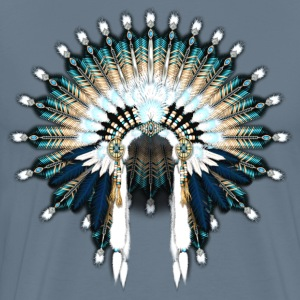 Blue Beaded War Bonnet - Men's Premium T-Shirt