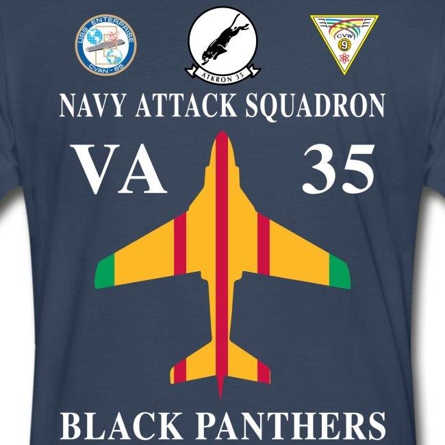 VA-35 BLACK PANTHERS w/ USS ENTERPRISE CVAN-65 - VIETNAM