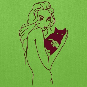 Woman with cat - Tote Bag