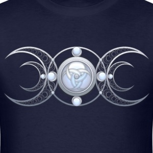 Silver Triple Goddess - Men's T-Shirt