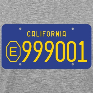 1970s-1980s California Exempt License Plate  T-Shirts - Men's Premium T-Shirt